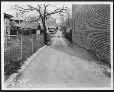 Street Improvement Photographs -- Box 27, Folder 11 (Montwood Alley) -- print, 1929-11-07