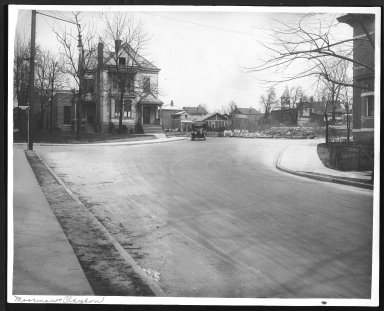 Street Improvement Photographs -- Box 27, Folder 12 (Moorman/Clayton) -- print, 1917-04-11