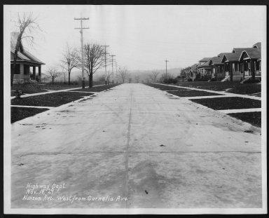 Street Improvement Photographs -- Box 27, Folder 17 (Nansen Street) -- print, 1929-11-18