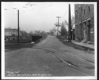 Street Improvement Photographs -- Box 27, Folder 18 (Nebraska Avenue) -- print, 1931-03-13
