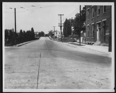 Street Improvement Photographs -- Box 27, Folder 18 (Nebraska Avenue) -- print, 1931-08-18