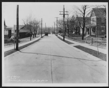 Street Improvement Photographs -- Box 27, Folder 20 (Nicholson Avenue) -- print, 1932-04-05