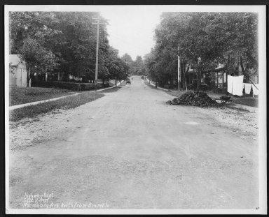 Street Improvement Photographs -- Box 27, Folder 22 (Normandy Avenue) -- print, 1929-09-11