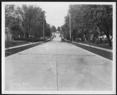 Street Improvement Photographs -- Box 27, Folder 22 (Normandy Avenue) -- print, 1930-05-05