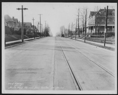 Street Improvement Photographs -- Box 27, Folder 33 (North Bend Road) -- print, 1931-12-17