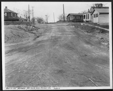 Street Improvement Photographs -- Box 27, Folder 37 (Norwich Avenue) -- print, 1928-11-15