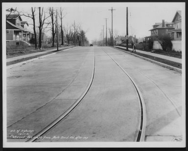 Street Improvement Photographs -- Box 27, Folder 39 (Oakwood Avenue) -- print, 1931-12-17