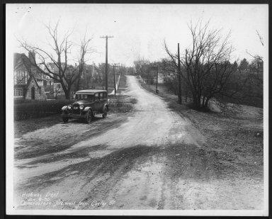 Street Improvement Photographs -- Box 27, Folder 40 (Observatory Avenue) -- print, 1930-01-06