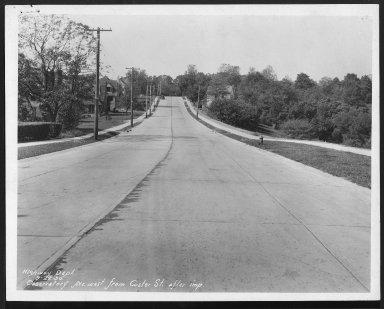 Street Improvement Photographs -- Box 27, Folder 40 (Observatory Avenue) -- print, 1930-09-22