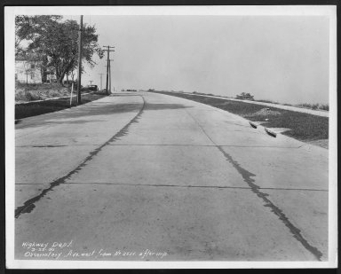 Street Improvement Photographs -- Box 27, Folder 40 (Observatory Avenue) -- print, 1930-09-22