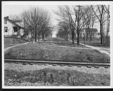 Street Improvement Photographs -- Box 27, Folder 42 (Odin Avenue) -- print, 1927-03-10
