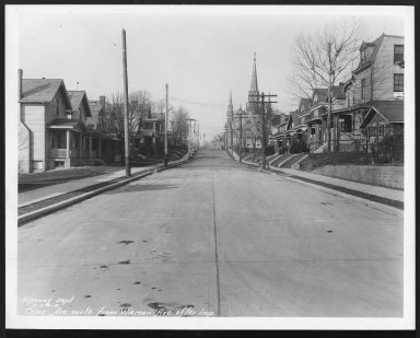 Street Improvement Photographs -- Box 27, Folder 44 (Olive Avenue) -- print, 1931-02-24
