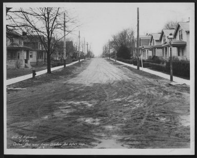 Street Improvement Photographs -- Box 27, Folder 48 (Orion Avenue) -- print, 1932-02-06