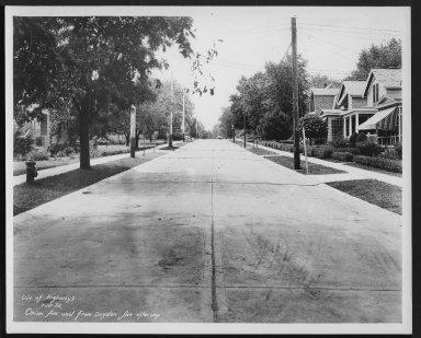 Street Improvement Photographs -- Box 27, Folder 48 (Orion Avenue) -- print, 1932-07-15
