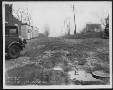 Street Improvement Photographs -- Box 27, Folder 49 (Overlook Avenue) -- print, 1932-12-29