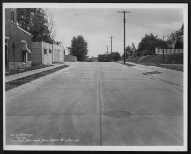 Street Improvement Photographs -- Box 27, Folder 49 (Overlook Avenue) -- print, 1933-08-03