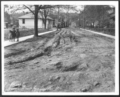 Street Improvement Photographs -- Box 27, Folder 51 (Owasco Street) -- print, 1927-04-23