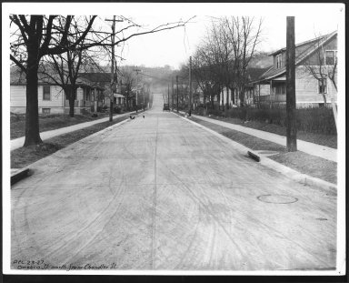 Street Improvement Photographs -- Box 27, Folder 51 (Owasco Street) -- print, 1927-12-23