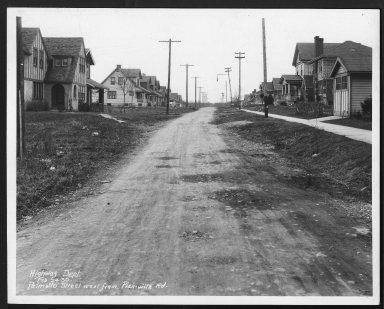 Street Improvement Photographs -- Box 27, Folder 54 (Palmetto Street) -- print, 1930-02-24