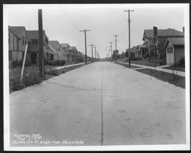 Street Improvement Photographs -- Box 27, Folder 54 (Palmetto Street) -- print, 1930-08-07