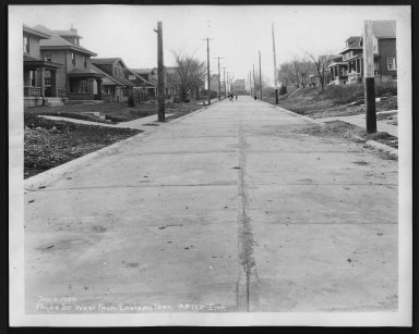 Street Improvement Photographs -- Box 27, Folder 55 (Palos Street) -- print, 1929-01-04