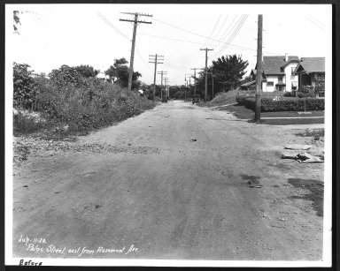 Street Improvement Photographs -- Box 27, Folder 55 (Palos Street) -- print, 1928-07-11