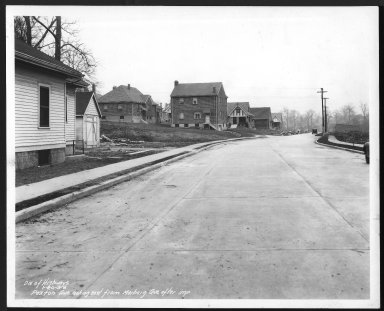 Street Improvement Photographs -- Box 27, Folder 61 (Paxton Road) -- print, 1938-01-20