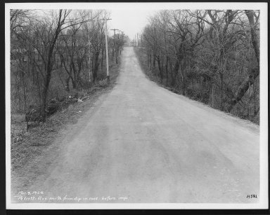 Street Improvement Photographs -- Box 27, Folder 63 (Pedretti Avenue) -- print, 1929-03-09