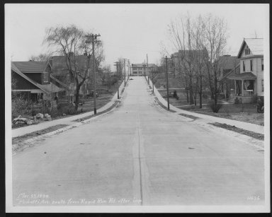 Street Improvement Photographs -- Box 27, Folder 63 (Pedretti Avenue) -- print, 1929-03-27