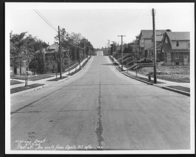 Street Improvement Photographs -- Box 27, Folder 63 (Pedretti Avenue) -- print, 1930-05-13