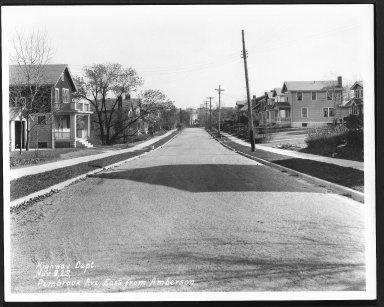 Street Improvement Photographs -- Box 27, Folder 64 (Pembrook Avenue) -- print, 1923-11-09