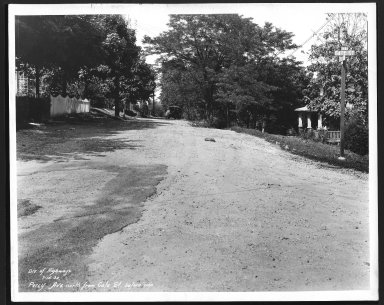 Street Improvement Photographs -- Box 27, Folder 66 (Percy Avenue) -- print, 1932-07-15