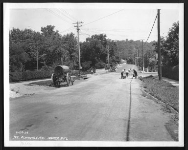 Street Improvement Photographs -- Box 27, Folder 69 (Plainville Road) -- print, 1926-06-28
