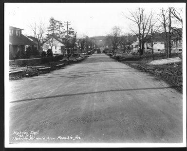 Street Improvement Photographs -- Box 27, Folder 69 (Plainville Road) -- print, 1930-02-17