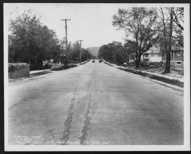 Street Improvement Photographs -- Box 27, Folder 69 (Plainville Road) -- print, 1930-10-08
