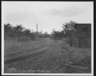 Street Improvement Photographs -- Box 27, Folder 70 (Portman Avenue) -- print, 1937-10-14