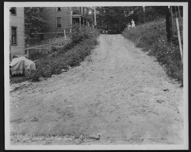 Street Improvement Photographs -- Box 28, Folder 03 (Purdue Street) -- print, 1927-07-07