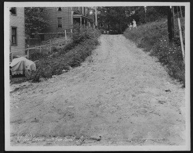 Street Improvement Photographs -- Box 28, Folder 03 (Purdue Street) -- print, 1927-07-07