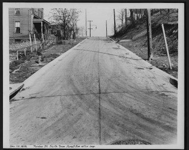 Street Improvement Photographs -- Box 28, Folder 03 (Purdue Street) -- print, 1928-12-28