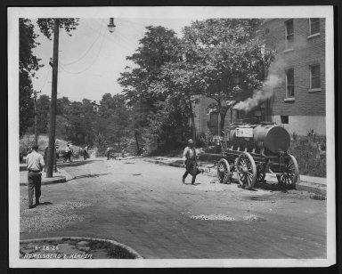 Street Improvement Photographs -- Box 28, Folder 04 (Ramelsberg Street) -- print, 1926-06-28