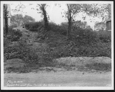 Street Improvement Photographs -- Box 28, Folder 08 (Regent Avenue) -- print, 1929-05-22