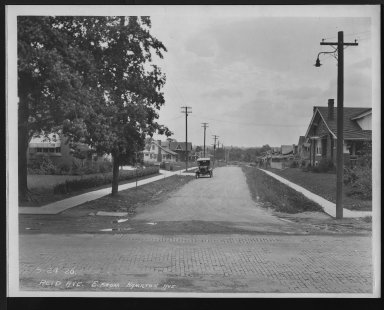 Street Improvement Photographs -- Box 28, Folder 09 (Reid Avenue) -- print, 1926-09-24
