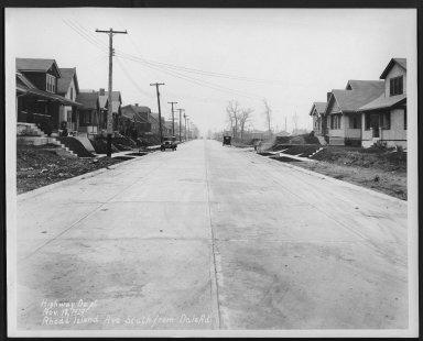 Street Improvement Photographs -- Box 28, Folder 11 (Rhode Island Avenue) -- print, 1929-11-12