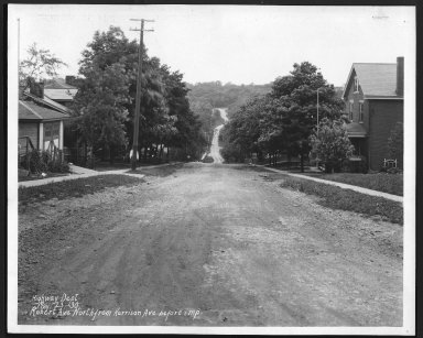 Street Improvement Photographs -- Box 28, Folder 18 (Robert Avenue) -- print, 1930-05-23