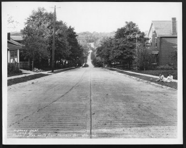 Street Improvement Photographs -- Box 28, Folder 18 (Robert Avenue) -- print, 1930-10-20