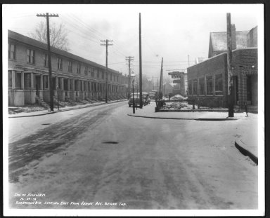 Street Improvement Photographs -- Box 28, Folder 20 (Robertson Avenue) -- print, 1938-12-29