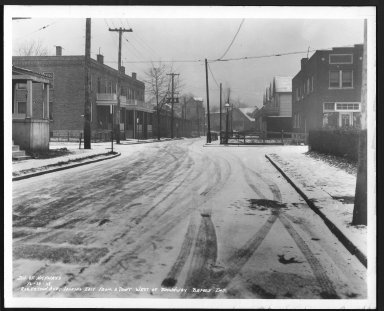 Street Improvement Photographs -- Box 28, Folder 21 (Robertson Avenue) -- print, 1938-12-29