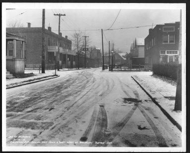 Street Improvement Photographs -- Box 28, Folder 21 (Robertson Avenue) -- print, 1938-12-29