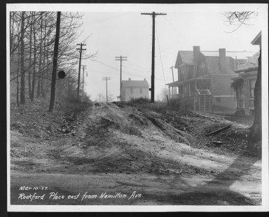Street Improvement Photographs -- Box 28, Folder 22 (Rockford Place) -- print, 1927-03-10
