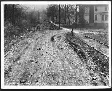 Street Improvement Photographs -- Box 28, Folder 22 (Rockford Place) -- print, 1927-03-10